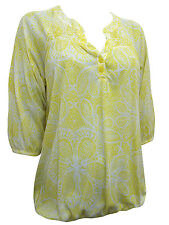 Ladies Marks & Spencer M&S Per Una Yellow White Floral Print Top Sizes 12-22 NEW