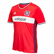 adidas Chicago Fire MLS 2016 Soccer Home Jersey New Red / White / Navy Blue