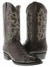 Brown Crocodile Alligator Back Cut Mens Exotic Cowboy Boots Western Rodeo J Toe