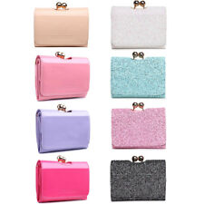 Women Designer Faux Patent Leather Small Ball Clasp Matinee Purse Wallet Clutch