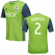 adidas Seattle Sounders MLS 2016 Clint Dempsey # 2 Soccer Home Jersey Green
