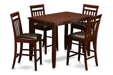 "BUCKLAND RECTANGULAR COUNTER HEIGHT PUB TABLE DINING SET W30"" X L48"" IN MAHOGANY"