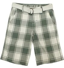 New! Epic Threads White Plaid Belted Shorts Boys' Kids Youth