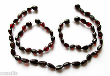 Genuine Baltic amber teething necklace or bracelet / anklet, cherry beans beads