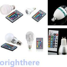 Energy-saving E27 GU10 RGB LED 16 Change Color Light Lamp Bulb + IR Remote OE