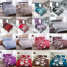 4 Piece Modern Duvet Quilt Cover Fitted Sheet Pillowcase Bedding Set Complete