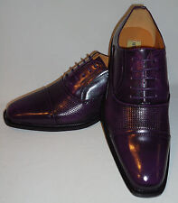 Antonio Cerrelli 6528 Mens Unique Dark Purple Color Oxford Fashion Dress Shoes