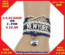 *SALE* New York Yankees Infinity Genuine Leather Bracelet - NEW *SALE*