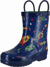 Pluie Pluie Boys Rocket Print Fashion Rainboots