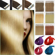 16''18''20'' Seamless Tape In 100%Brazilian Remy Human Hair Extensions Hair Weft