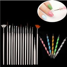 20PCS Nail Art Design Dotting Painting Drawing Polish Brush Pen Tools WH