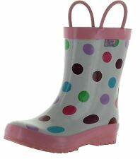 Pluie Pluie Girls White Polka Dot Fashion Rainboots