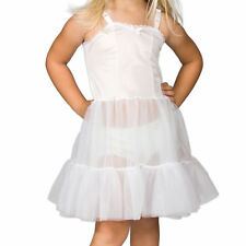 Girls White Bouffant Sweetheart Full-Slip, (2T - 14)