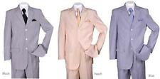 Men's New 3 buttons Notch Lapel Seersucker Striped Suit Jacket & Pants ST802