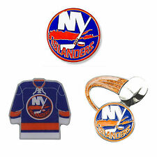 "New York Islanders Lapel Pins About 1"" Tall NHL Hockey Licensed Choose Design"