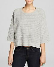*NEW* French Connection $108 Gray Milla Crop Textured Sweater Top. S M NWT