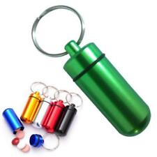 Portable Waterproof Airtight Pill Box Capsule Cash Clip Stash Case Key Chain Q