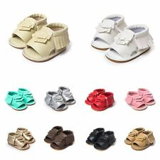 New Summer Leather Baby Toddler Soft Infant Cute Sandals Tassel Walking Shoes