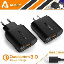 [Quick Charge 3.0] Aukey USB Wall Charger EU US Plug Mini Travel Adapter + Cable
