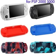 Protective Silicone Rubber Gel Skin Case Cover Compatible For Sony PSP 2000 3000