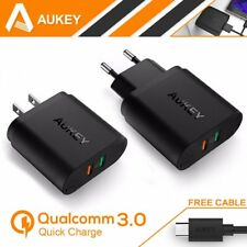[Quick Charge 3.0] Aukey 2Ports USB Wall Charger AC100-240V Travel Plug USB Hub