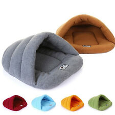 Pet Dog Cat Puppy Nest Bed Cozy Soft Warm Cave House Sleeping Bag Mat Pad Kennel