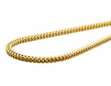 New Real 10K Yellow Gold 3MM Hollow Franco Box Link Chain Necklace 18-30 Inches