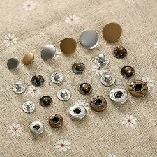 50Pcs 10/12.5/15mm Metal Snap Fasteners Poppers Press Stud Sewing Button Crafts