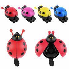 Lovely Kid Beetle Ladybug Ring Bell For Cycling Bicycle Bike Ride Horn Alarm BE