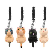 Cute Cat Hanging 3.5mm Anti Dust Earphone Jack Plug Stopper Cap For Phone BE