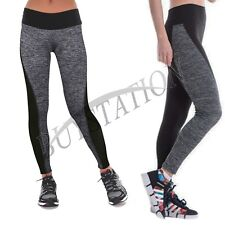 Womens Leggings YOGA Workout Gym Sports Pants Stretch Fitness Trouser Size S-3XL
