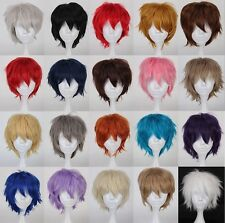 """Short Straithrt wig 12"""" 30cm 20 colors  Curly Cosplay Wig fashion hair"""