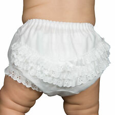 Baby Girls Batiste Rumba Diaper Cover Bloomers, (Solid Colors) (NB to XL)
