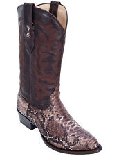 Los Altos Men's Genuine Python Handmade Western Cowboy Boots Medium R-Toe