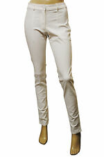Womens H&M Trousers Slim Skinny Fit Soft Cotton White Size 8 to 10