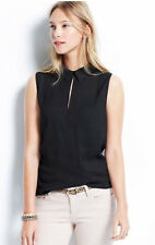 Ann Taylor - Misses'  Black Collared Keyhole Cami Shirt Top -327756 - $69.00