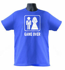 Game Over Marriage Wedding, Bride / Groom Funny  T-Shirt S-XXL Sizes