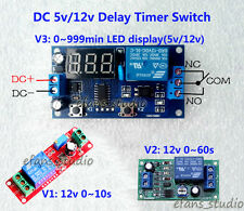 DC 5v 12v Delay Timer Switch Adjustable NE555 MCU Relay Module Board LED display