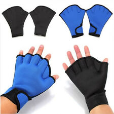 2X Surfing Swimming Diving Frog Webbed Fingerless Gloves Swim Aid Paddle Glove