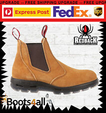 Redback Work Boots UBBA Easy Escape Soft Toe Banana Slip On With Box