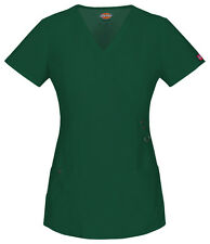 Dickies Scrubs Short Sleeve Top 85956 HTRZ Hunter Green Free Shipping