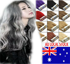 Indian Remy Human Hair Extensions Seamless Tape In Skin Weft 18-22Inch AU Stock