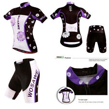 Cycling Bike Sleeve Sports Shorts Wear Pants Clothing Bicycle Suit Jersey Set