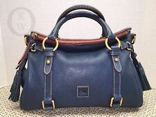*Dooney & Bourke*Ocean Blue*Florentine Leather*Satchel*Shoulder Bag#16050D