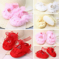 Fashion Infant Newborn Baby Girls Princess Shoes Non-slip Lace Sneaker Prewalker