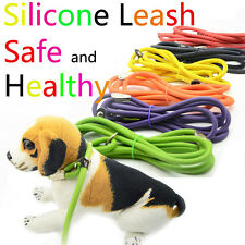2016 New 150CM Silicone And Nylon Pet Cat Dog Leash or Leashes Pet Dog Collar