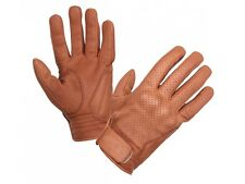 Modeka Hot Classic Motorcycle Leather Gloves Nappa leather anilin brown vintage
