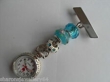 Hand Crafted Fob Watch for Nurses Care workers, Beauticians, Vets £5.99 FREEPOST