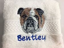Personalized Dog/Cat Breed PetTowel with pet's name - 50 choices - Handmade