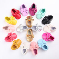 Candy color newborn Baby soft Leather Shoes Infant Toddler tassel Moccasin #QWS